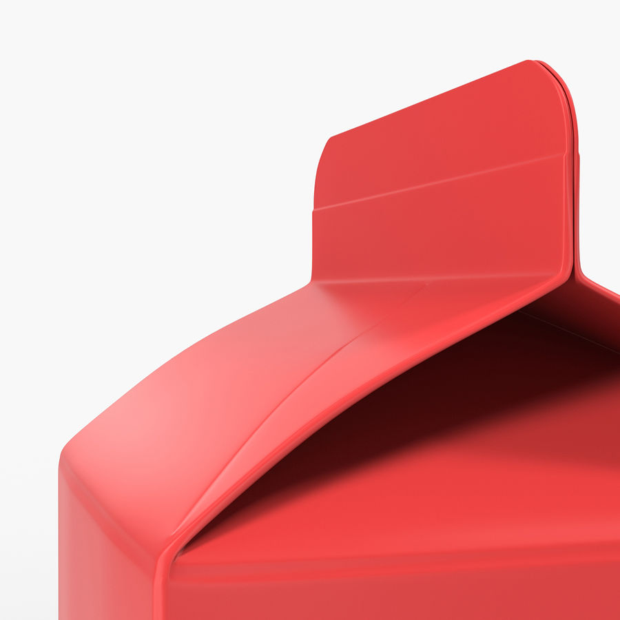 Milk Pint Box royalty-free 3d model - Preview no. 10