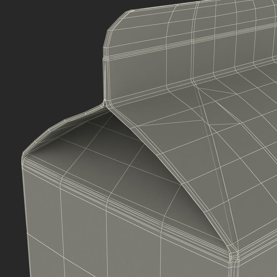 Milk Pint Box royalty-free 3d model - Preview no. 17