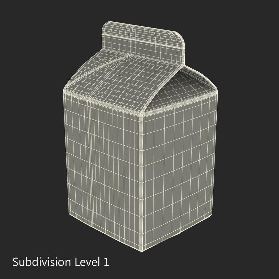 Milk Pint Box royalty-free 3d model - Preview no. 12