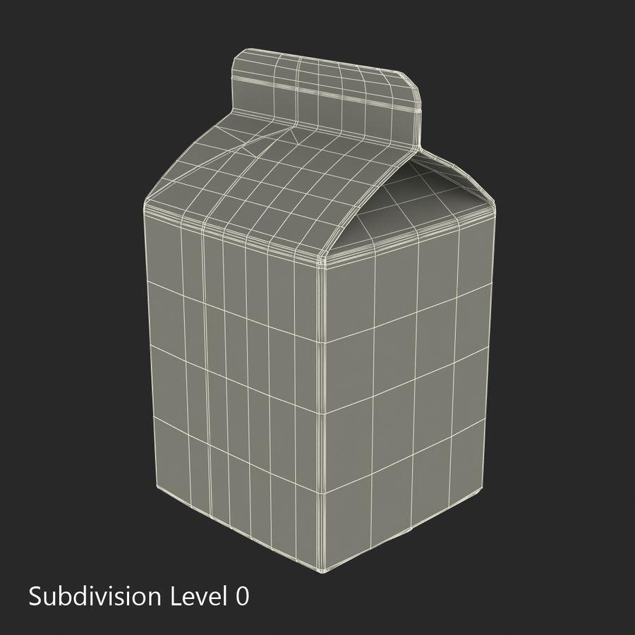 Milk Pint Box royalty-free 3d model - Preview no. 11