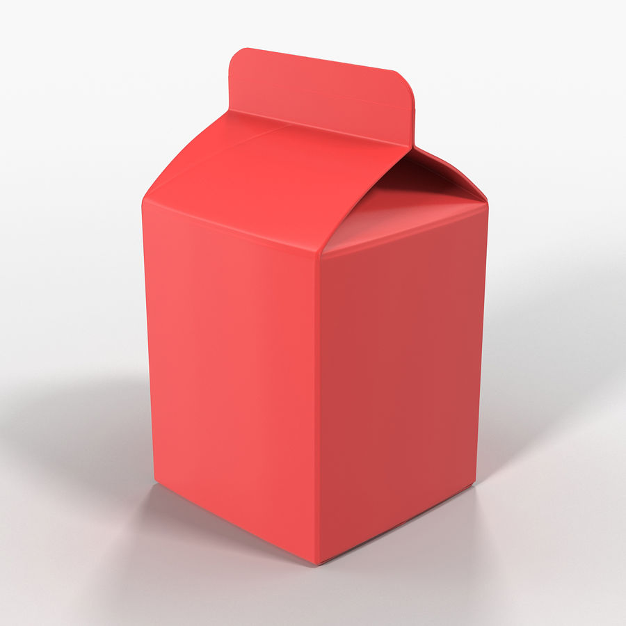 Milk Pint Box royalty-free 3d model - Preview no. 8