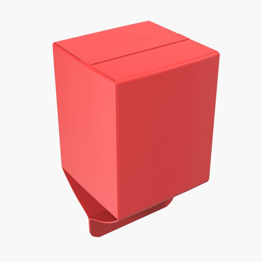 Milk Pint Box royalty-free 3d model - Preview no. 9