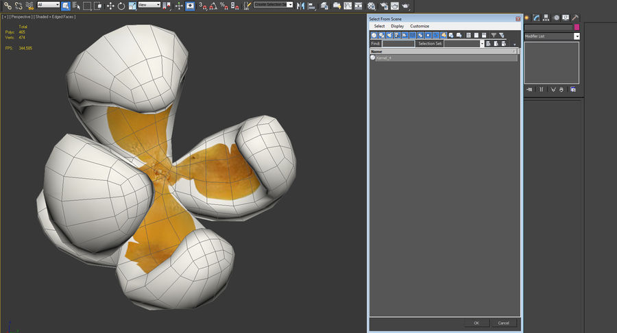 One Popcorn Kernel royalty-free 3d model - Preview no. 12