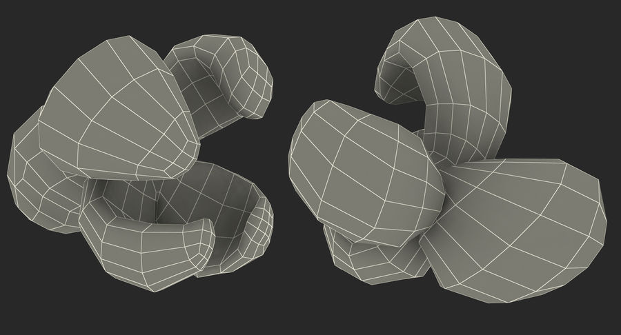 One Popcorn Kernel royalty-free 3d model - Preview no. 17