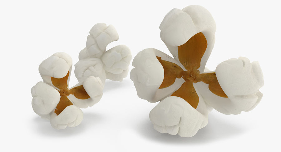 One Popcorn Kernel royalty-free 3d model - Preview no. 3