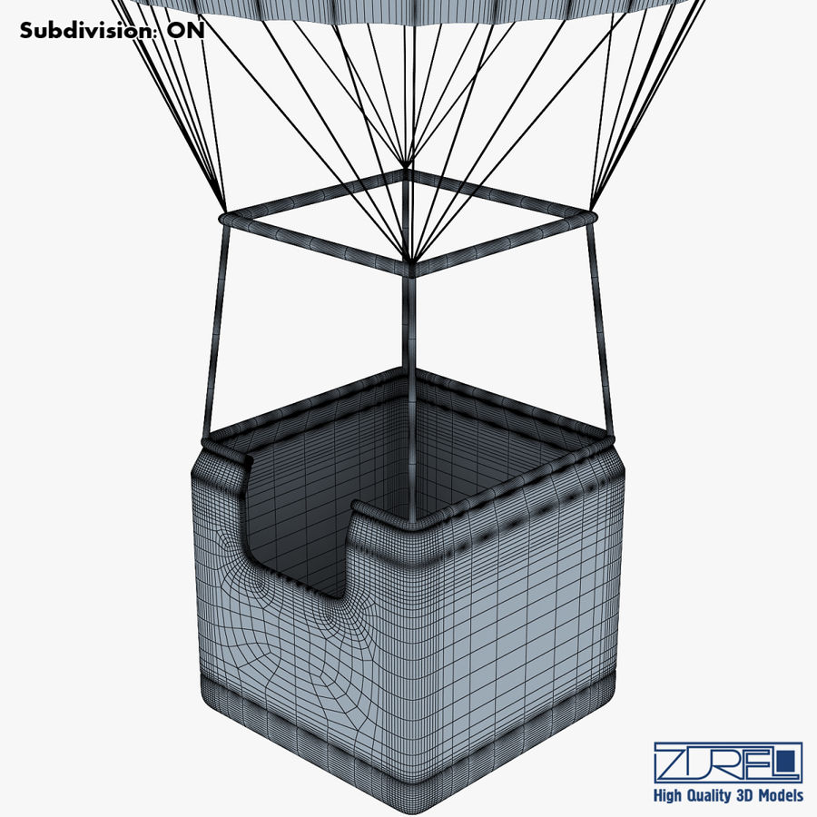 Hot Air Balloon v 1 royalty-free 3d model - Preview no. 19
