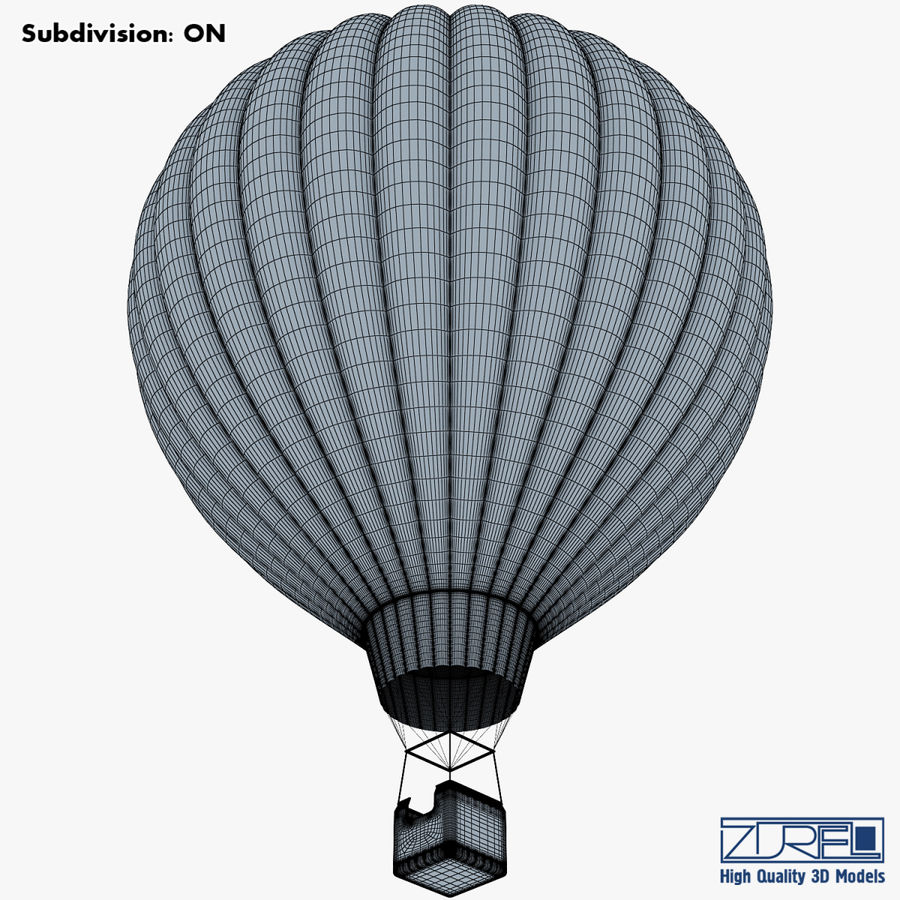 Hot Air Balloon v 1 royalty-free 3d model - Preview no. 17