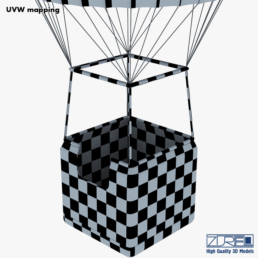 Hot Air Balloon v 1 royalty-free 3d model - Preview no. 30