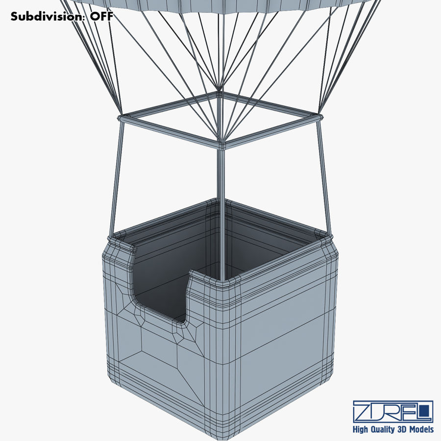 Hot Air Balloon v 1 royalty-free 3d model - Preview no. 20
