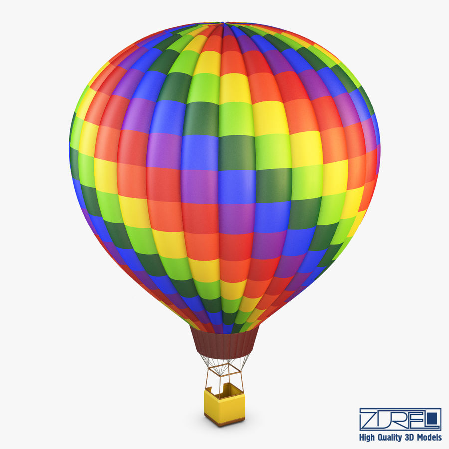 Hot Air Balloon v 1 royalty-free 3d model - Preview no. 2