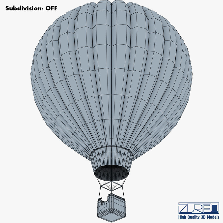 Hot Air Balloon v 1 royalty-free 3d model - Preview no. 18