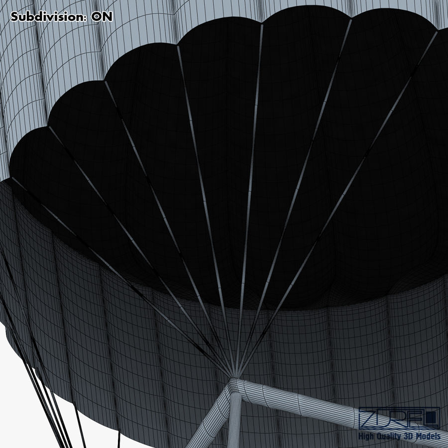 Hot Air Balloon v 1 royalty-free 3d model - Preview no. 25