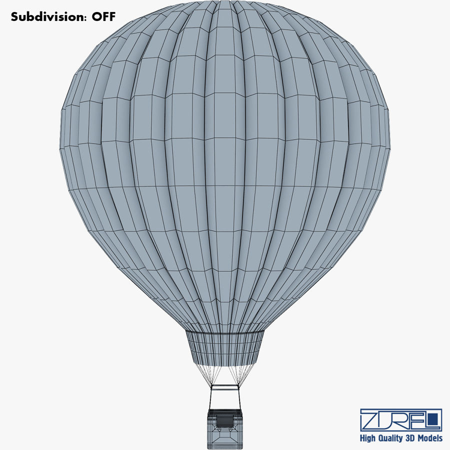 Hot Air Balloon v 1 royalty-free 3d model - Preview no. 12