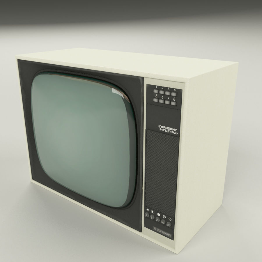 Retro TV royalty-free 3d model - Preview no. 2