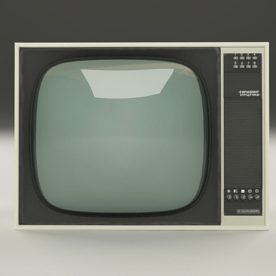 Retro TV royalty-free 3d model - Preview no. 1