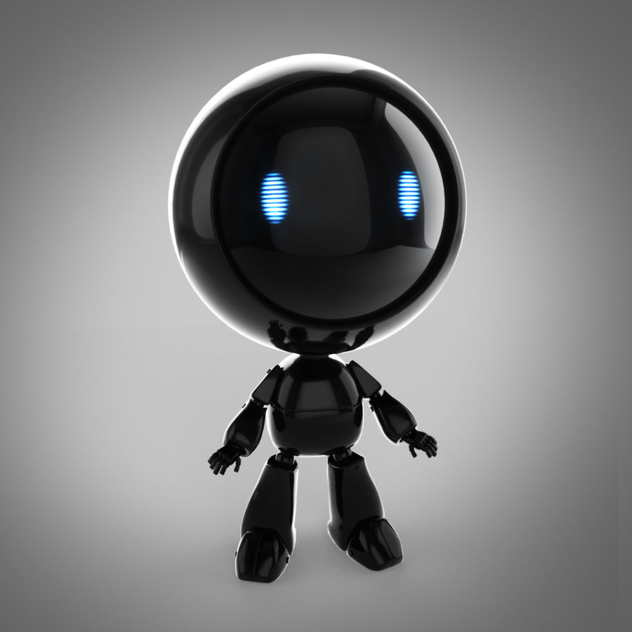 Tecknadrobot royalty-free 3d model - Preview no. 1