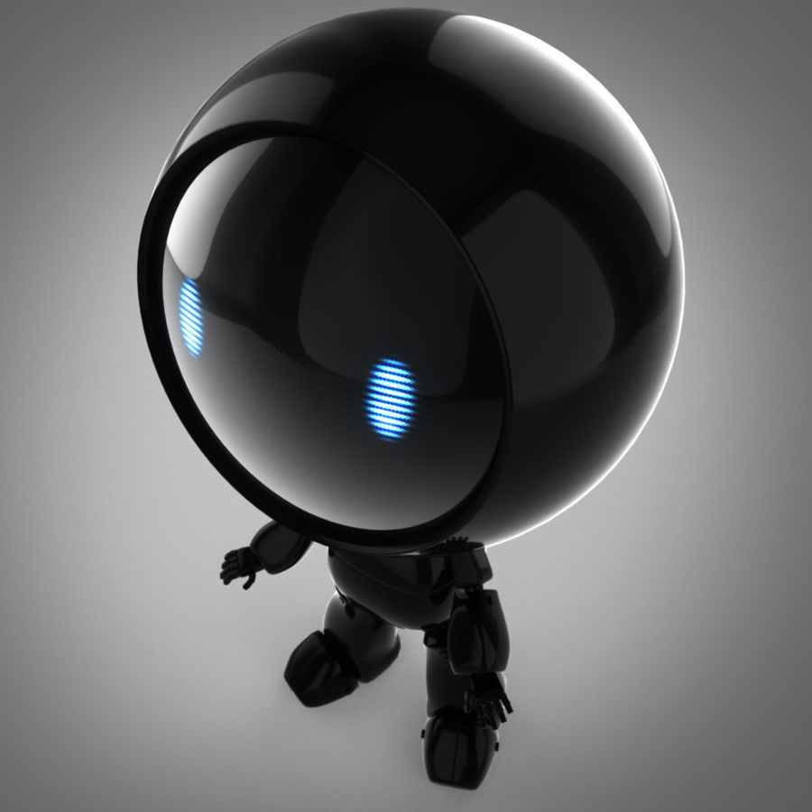 Tecknadrobot royalty-free 3d model - Preview no. 4