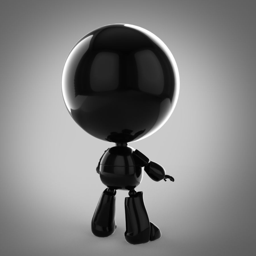 Robô dos desenhos animados royalty-free 3d model - Preview no. 2