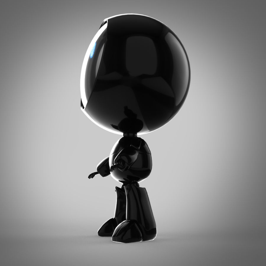 Robô dos desenhos animados royalty-free 3d model - Preview no. 3