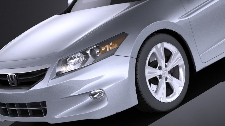 Honda Accord 2012 Coupe VRAY Royalty Free 3d Model   Preview No. 3