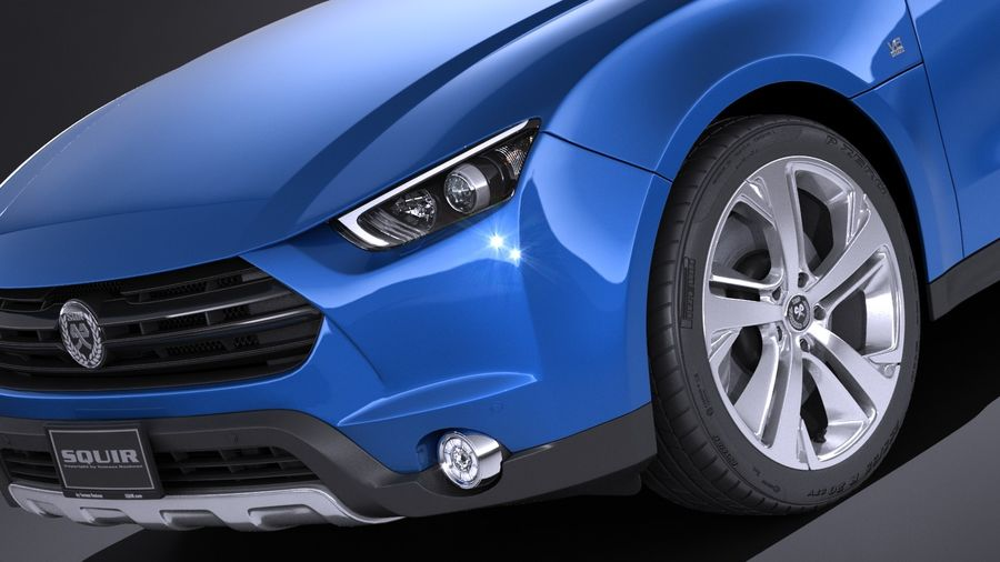 Generic SUV 2017 royalty-free 3d model - Preview no. 3