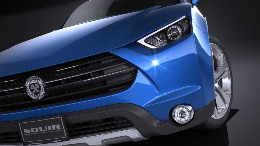 Generic SUV 2017 royalty-free 3d model - Preview no. 10