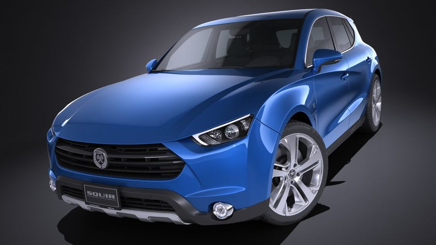 Generic SUV 2017 royalty-free 3d model - Preview no. 9