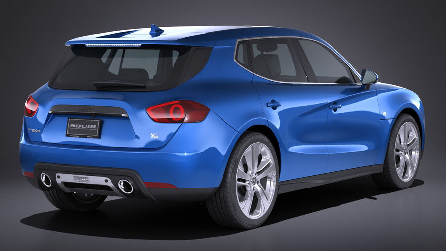 Generic SUV 2017 royalty-free 3d model - Preview no. 6