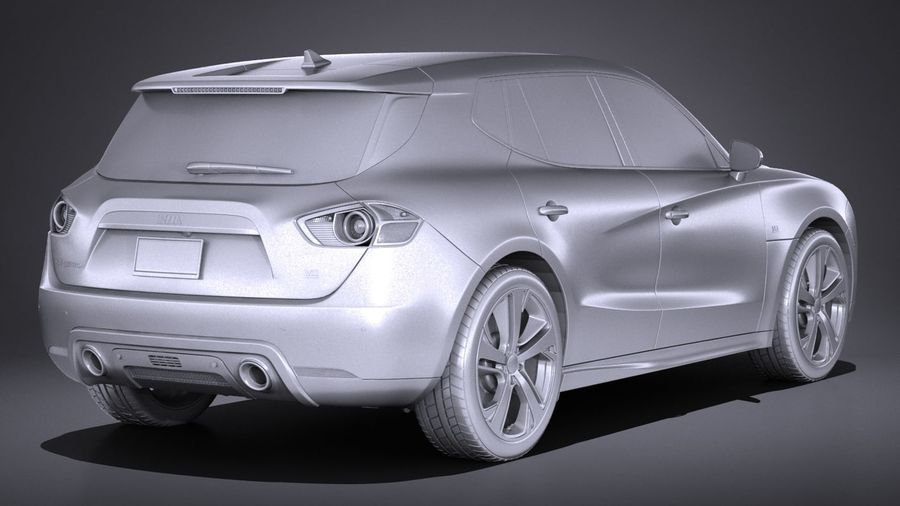 Generic SUV 2017 royalty-free 3d model - Preview no. 18