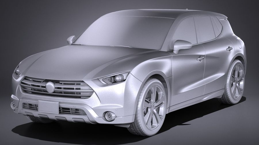 Generic SUV 2017 royalty-free 3d model - Preview no. 15