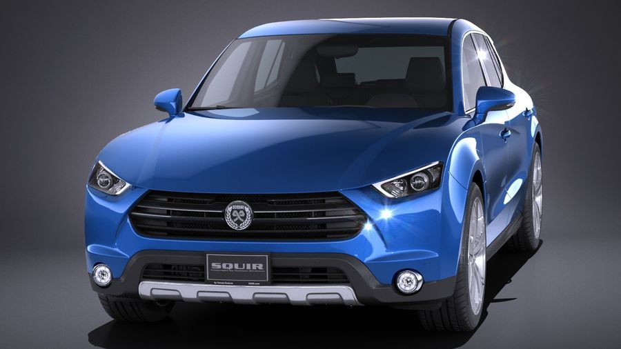 Generic SUV 2017 royalty-free 3d model - Preview no. 2