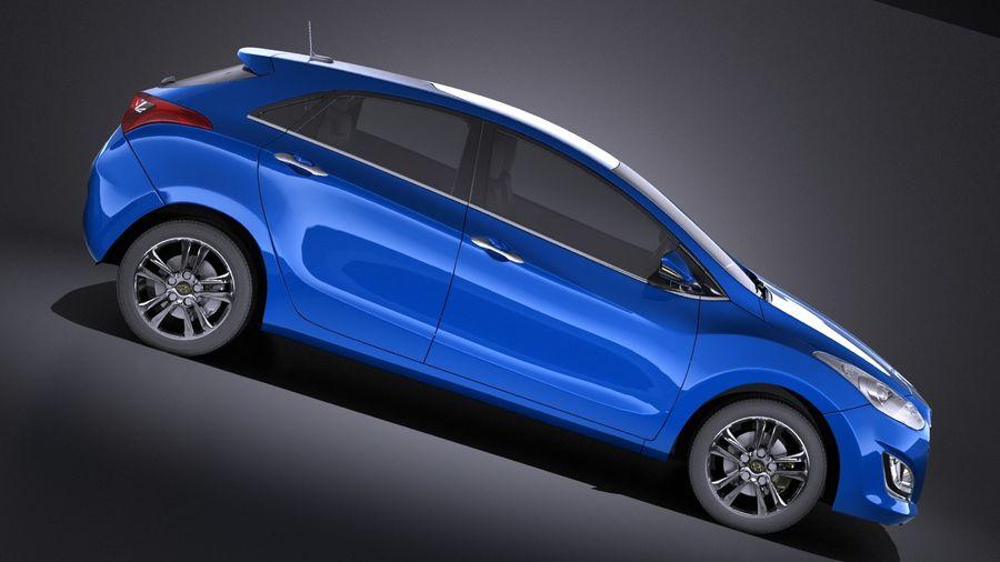 Hyundai i30 2014 VRAY royalty-free 3d model - Preview no. 7