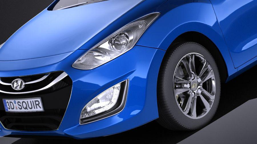 Hyundai i30 2014 VRAY royalty-free 3d model - Preview no. 3