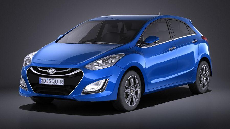 Hyundai i30 2014 VRAY royalty-free 3d model - Preview no. 1