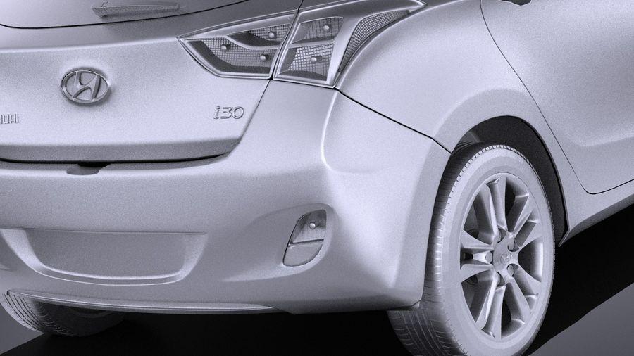 Hyundai i30 2014 VRAY royalty-free 3d model - Preview no. 11