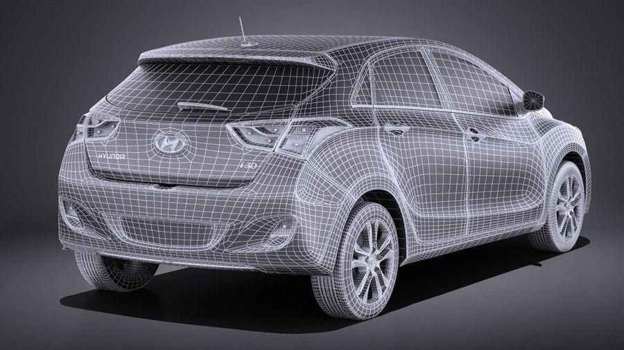Hyundai i30 2014 VRAY royalty-free 3d model - Preview no. 14
