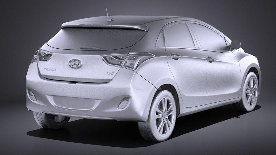 Hyundai i30 2014 VRAY royalty-free 3d model - Preview no. 12