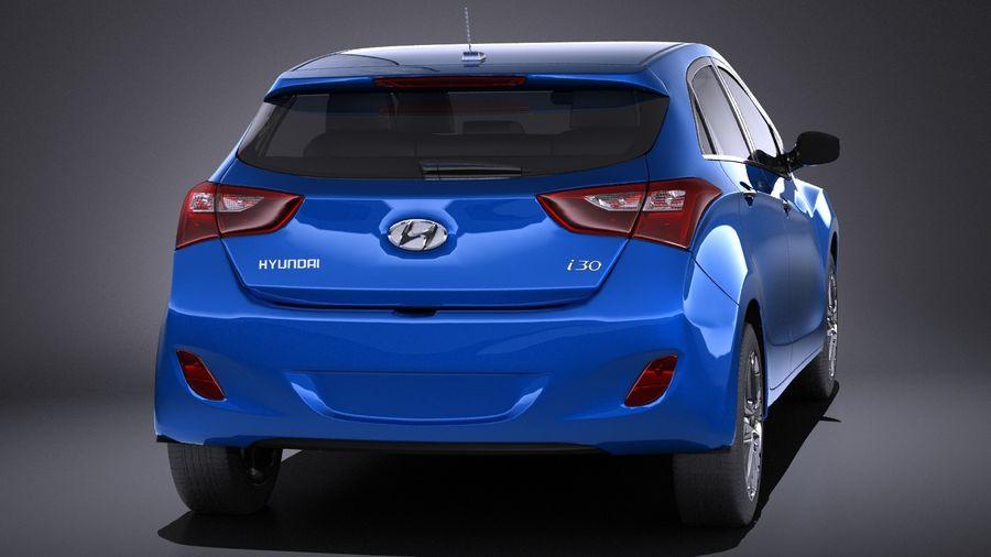 Hyundai i30 2014 VRAY royalty-free 3d model - Preview no. 5