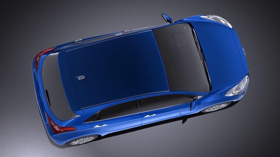 Hyundai i30 2014 VRAY royalty-free 3d model - Preview no. 8