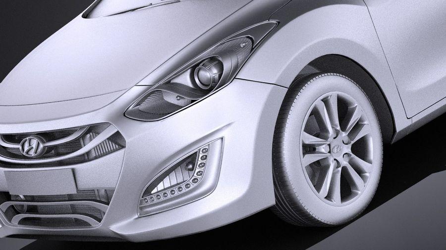 Hyundai i30 2014 VRAY royalty-free 3d model - Preview no. 10