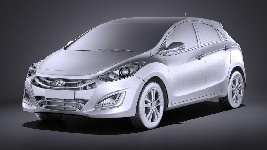 Hyundai i30 2014 VRAY royalty-free 3d model - Preview no. 9