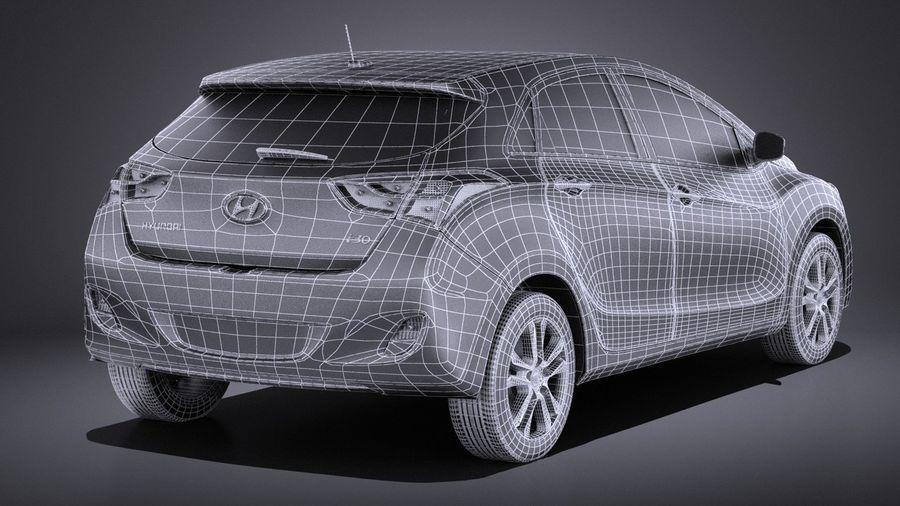 Hyundai i30 2014 VRAY royalty-free 3d model - Preview no. 16