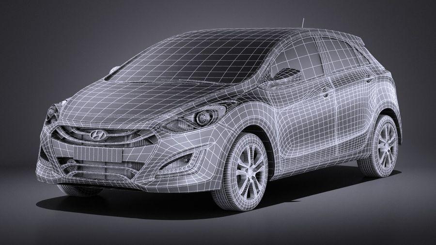 Hyundai i30 2014 VRAY royalty-free 3d model - Preview no. 15