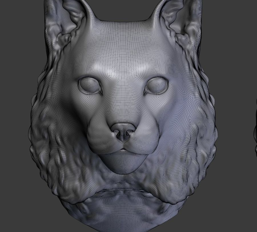 lynx head royalty-free 3d model - Preview no. 16
