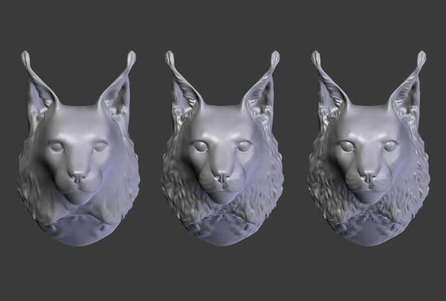lynx head royalty-free 3d model - Preview no. 18