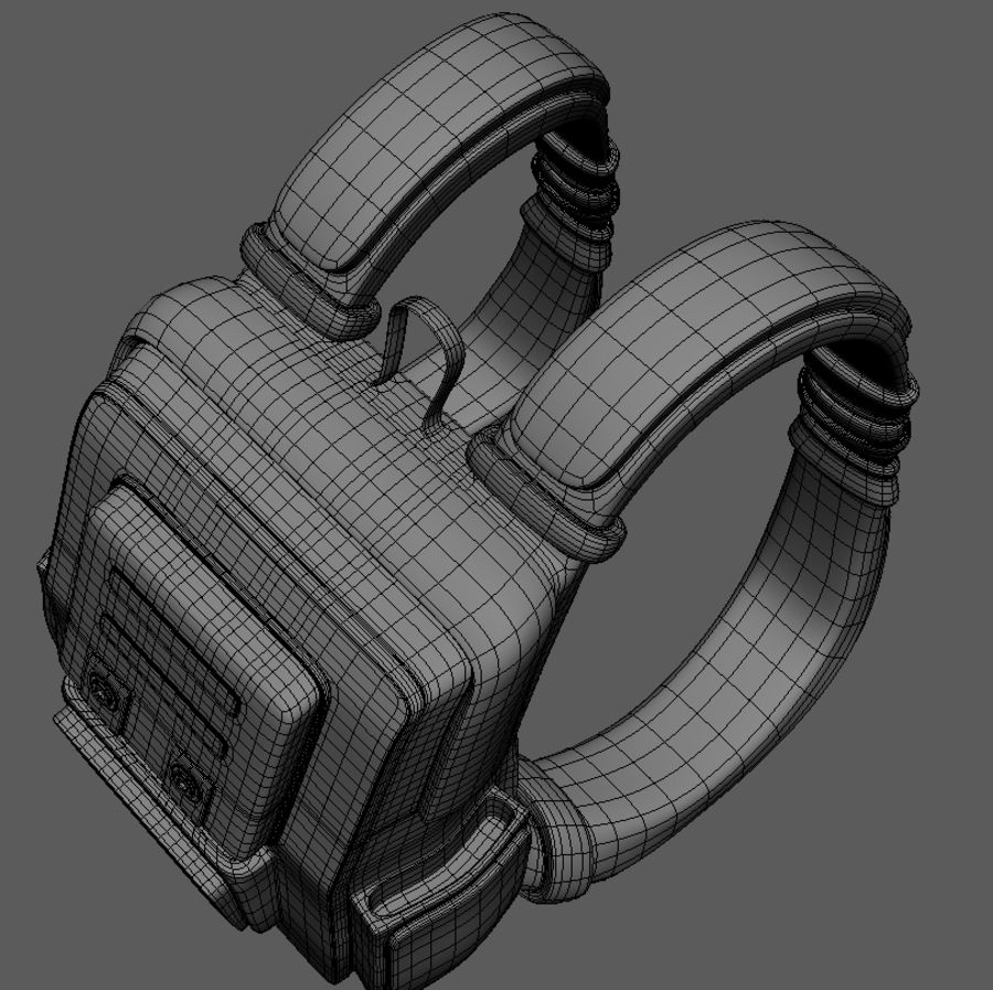 Backpack Cartoon royalty-free 3d model - Preview no. 11