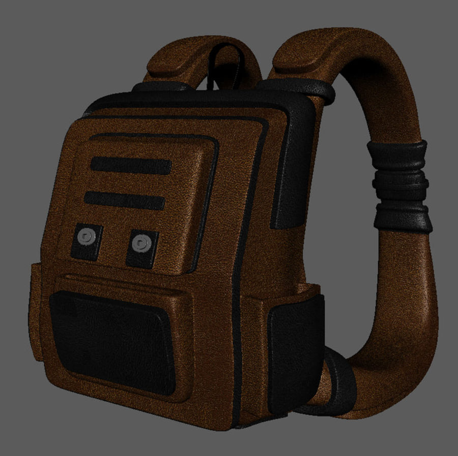 Backpack Cartoon royalty-free 3d model - Preview no. 4