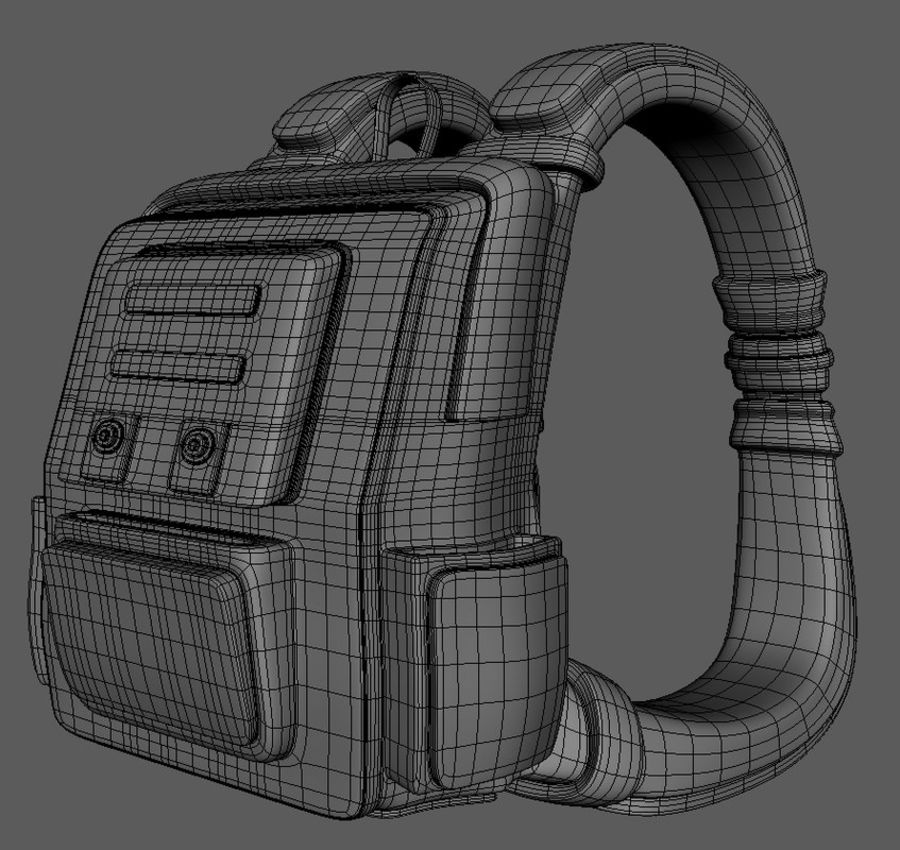 Backpack Cartoon royalty-free 3d model - Preview no. 9