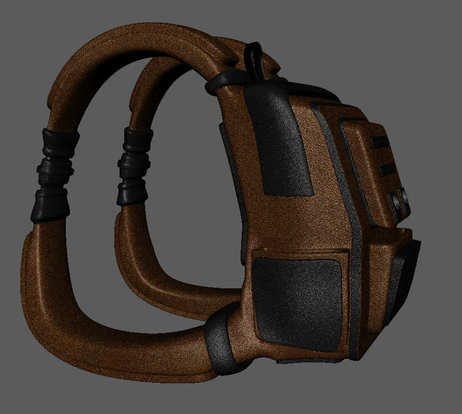 Backpack Cartoon royalty-free 3d model - Preview no. 6