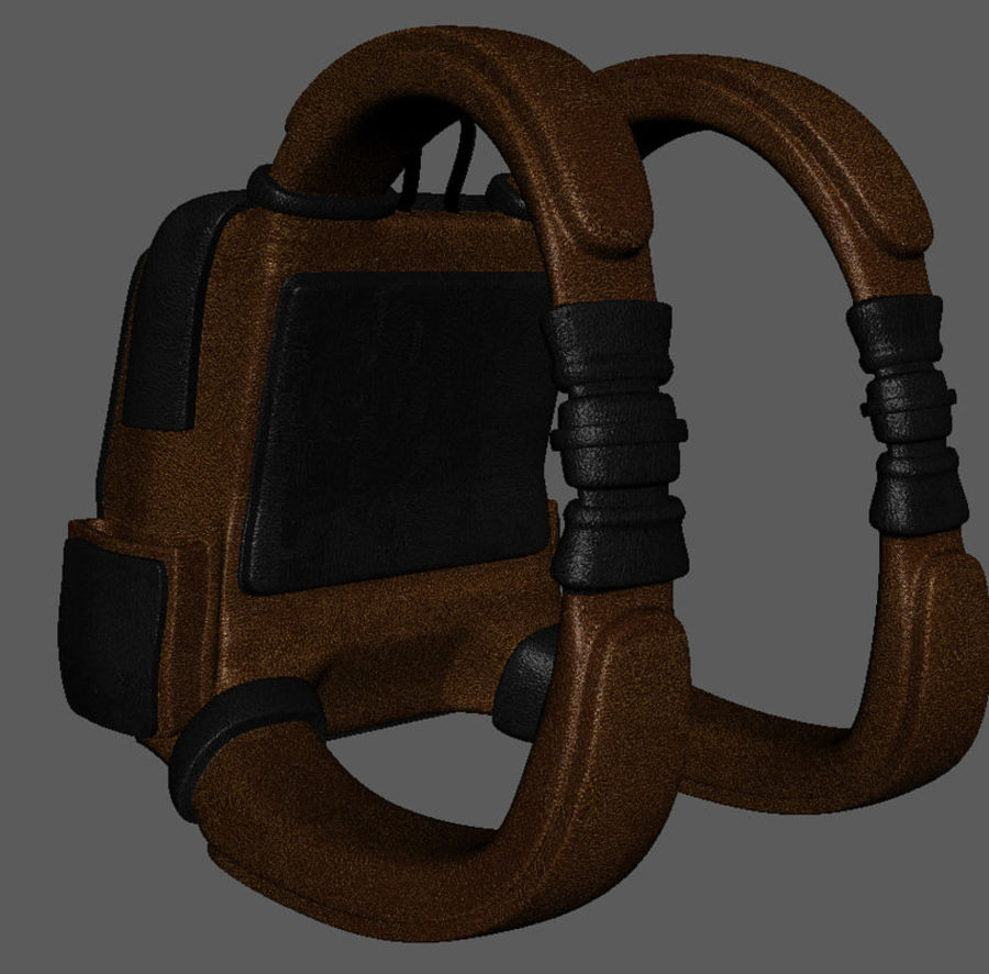 Backpack Cartoon royalty-free 3d model - Preview no. 5